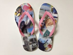 Women′s EVA Sole Transfer Printed Flip Flops pictures & photos