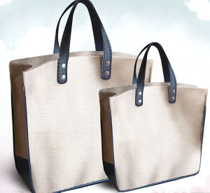 Gift Paper Nonwoven Shopping Bag Leather Cotton Canvas Handle Shopping Bag (X033) pictures & photos