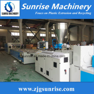 Conical Double Screw PVC Extruder pictures & photos