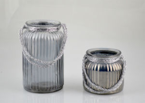 Beautiful Glass Lantern with Handle pictures & photos