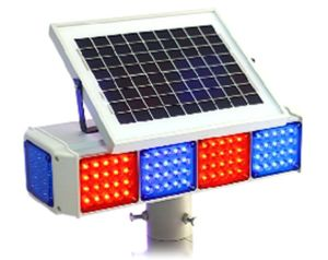 Four-Side Solar Energy Traffic Signal Flashlight (TR007)