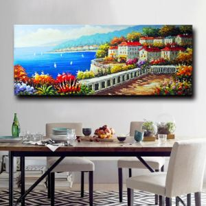European Style Artwork Mediterranean Flower Wall Picture Canvas Oil Painting pictures & photos