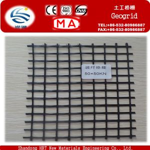 50kn Fiberglass Geogrid for Road Construction pictures & photos