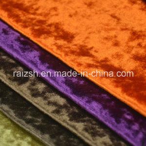 Ice Flower Drilling Bright Velvet Curtain Fabric Sofa Fabric pictures & photos