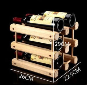 Plain Solid Wooden Wine Rack pictures & photos