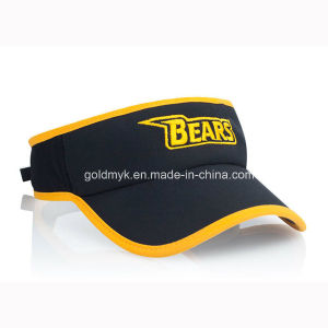 Embroidery Black Sun Visor with Yellow Border (GKA12-A00002) pictures & photos