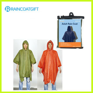 Adult Waterproof PVC Rain Poncho Rvc-129 pictures & photos