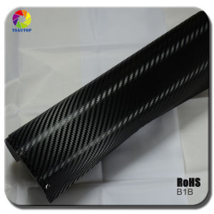 Tsautop 3D Carbon Fiber Vinyl for Car Wrapping&B1b Black pictures & photos