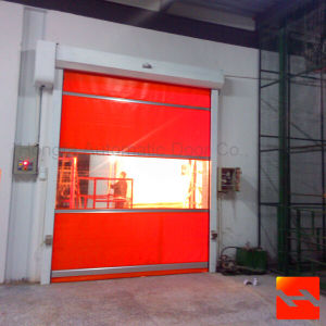 Iran Motor Fast Roller Shutter Door Manufacture (HF-1026) pictures & photos