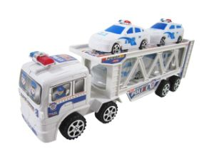 Plastic Friction Police with Four Mini Car (10221375) pictures & photos