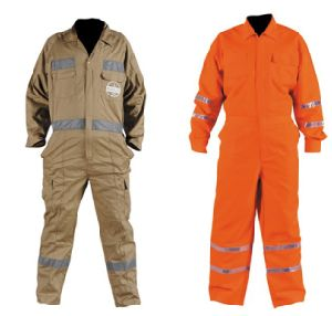 100% Cotton Safety Relfective Coveralls with Hi-Vis Tape pictures & photos
