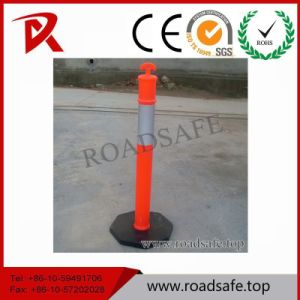 Road Safety Traffic Plastic Reflective Red T-Top PVC Spring Delineator Post pictures & photos