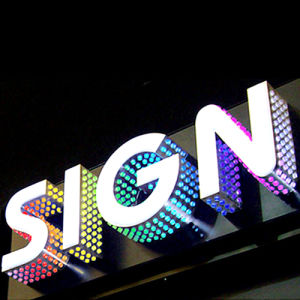 face lit and side lit magic led letter sign