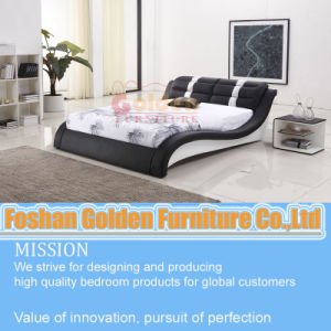 Hot! ! ! Popular Soft Leather Bed Design in Ciff pictures & photos