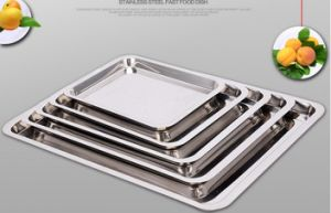 Stainless Steel Food Tray for Kitchenware