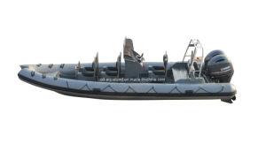 China Aqualand 25feet 7.5m Rigid Inflatable Patrol Boat/Fiberglass Rib Rescue Boat (RIB750B) pictures & photos