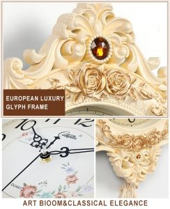 European Creative Wall Clocks Hot Sale Luxury Clock Plastic Type Wall Clock for Home Wall Decor pictures & photos