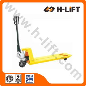 Super Narrow Hydraulic Pallet Truck (PT-BFN Type) pictures & photos