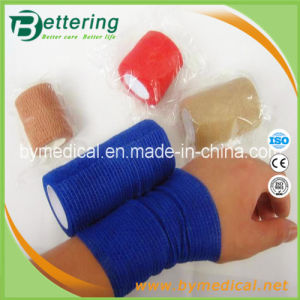 Medical Individual Packed Non Woven Self Adhesive Bandage pictures & photos
