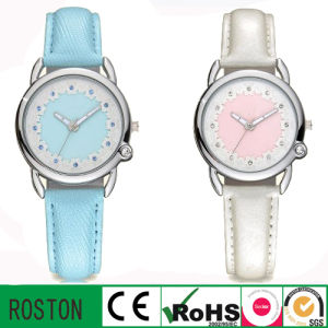 Leather Strap Japan Quartz Movement Kids Gift Watch pictures & photos