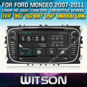 Witson Car DVD for Ford Mondeo (2007-2011) /Focus (2008-2011) /S-Max (2008-2011) (2008-2010) (W2-D8457F) pictures & photos