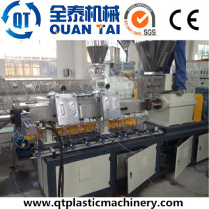 Co-Rotating Double Screw Extruder / Pet Bottle Recycling Pelletizing Machine pictures & photos