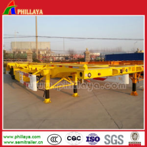 3 Axles 40-Foot Truck Chassis Skeleton Container Semi-Trailer pictures & photos