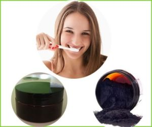 Coconut Oil and Coconut Shell Charcoal Powder for Teethtraveling Tooth Brush