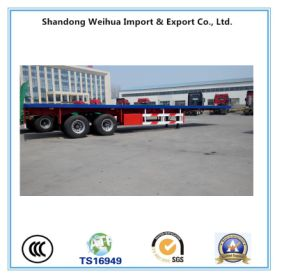 2 /3 Axles 20FT / 40FT Container Flatbed Semi Trailer pictures & photos