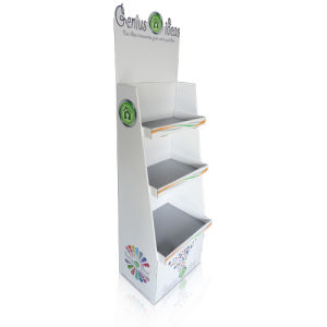 Cardboard Standing Display Shelf, Floor Display Racks pictures & photos