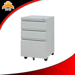 Top Selling 3 Drawer Cheap Steel Mobile Document Cabinet pictures & photos