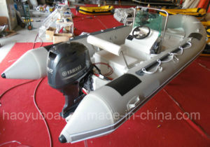 17feet Outboard Motor Boat, Rib Boat, 5.2m Inflatable Boat Rigid Hull Boat Fishing Boat pictures & photos