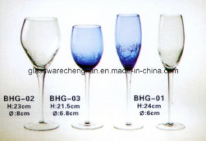 Hand Made Crackle Wine Glass (BHG-02) pictures & photos