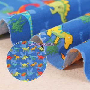 Dinosaur Patterns 250GSM Woven Canvas Fabric pictures & photos