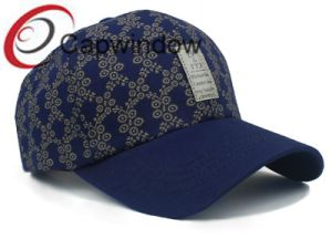 Printed Cotton with Leather Patch Promotional Leisure Sport Baseball Cap pictures & photos