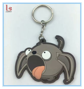 Newest Cartoon Dog 3D Soft Key Ring Custom PVC Keychain pictures & photos