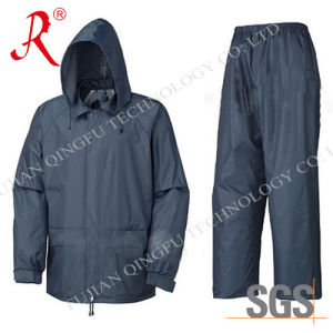 New Style Waterproof and Breathable Rain Suit (QF-704) pictures & photos