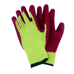 10g T/C Knitted Liner Glove with Latex Coated CE Glove