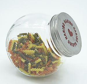 Stylish Round Glass Bottle Glass Storage Jar Sweet Container pictures & photos