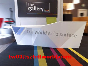 Tw Artificial Stone Office Round Reception Desk pictures & photos