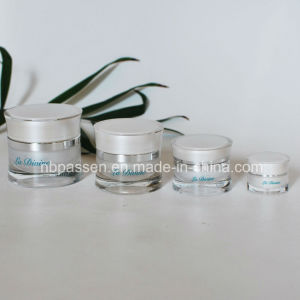 New 5/15/30/50g Pearl White Acrylic Waist Cosmetic Cream Jar (PPC-NEW-113) pictures & photos