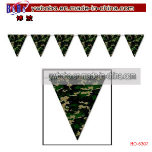 Holiday Decoration Banner Amouflage Party Banner Promotional Flag (BO-5307) pictures & photos