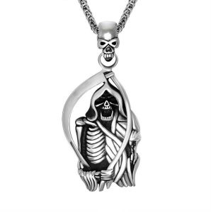 Death Necklace Pendant Men Gothic Jewellery 316L Stainless Steel pictures & photos