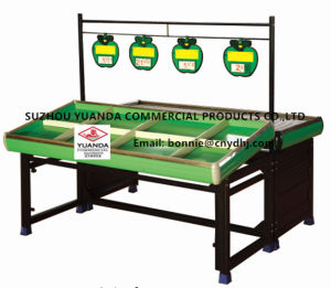 Steel Supermarket Fruit and Vegetable Acrylic Storage Display Rack pictures & photos