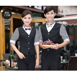 Custom High Quality Hotel Reception Waiter Waitress Uniform pictures & photos