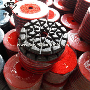 Cr-28 Black Wearable Resin Diamond Polishing Pad for Terrazzo Concrete pictures & photos