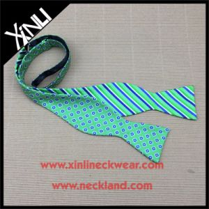 Wholesale Custom Wine Bottle Silk Woven Self Personalized Bow Tie pictures & photos