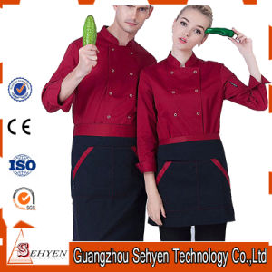 Cook Long-Sleeve Autumn Workwear Chef Uniform of Cotton pictures & photos