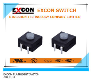 Flashlight Tact Switch Ts203-21-1-a with Small Size Switch for Flashlight Products pictures & photos