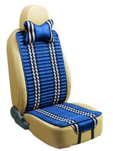 Checked Linen and Velvet Car Seat Cover Double Sides Use-Blue pictures & photos